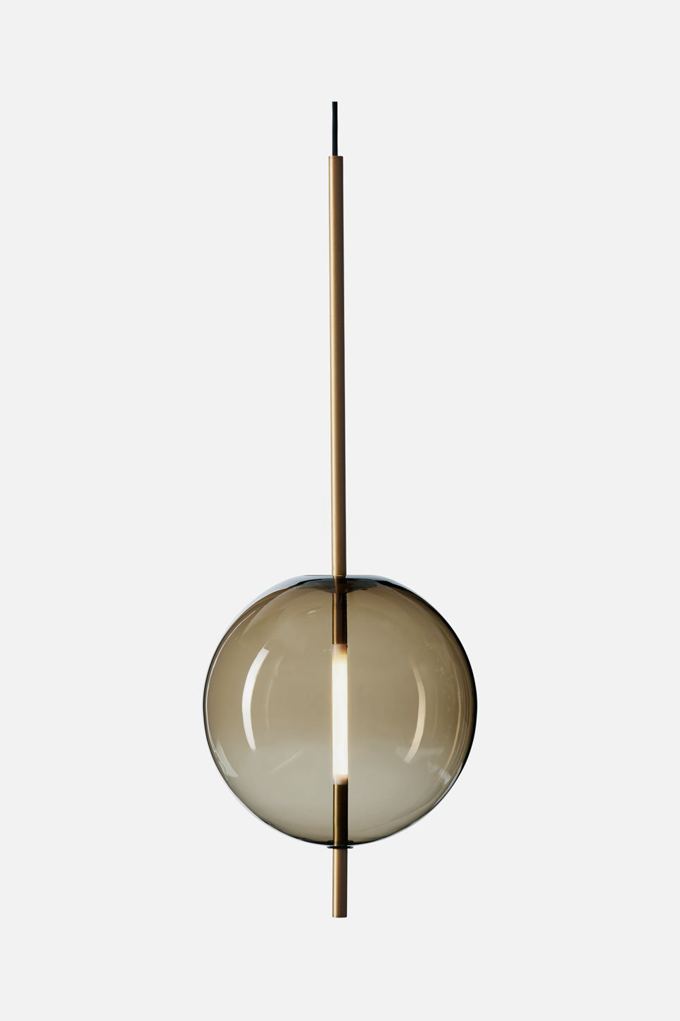 Kandinsky 30 Pendant – Smoked brown/brass